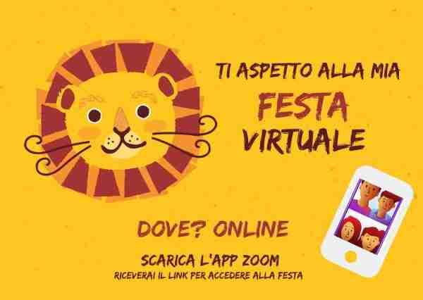 invito per festa digitale coronavirus